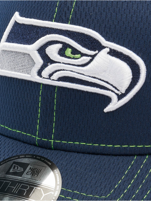 New Era Flexfitted Cap NFL Seattle Seahawks Onfield Road 39Thirty blue