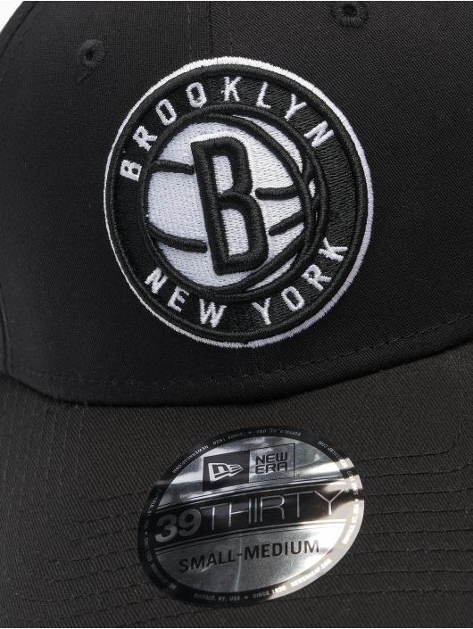 New Era Flexfitted Cap NBA Brooklyn Nets Core 39Thirty czarny
