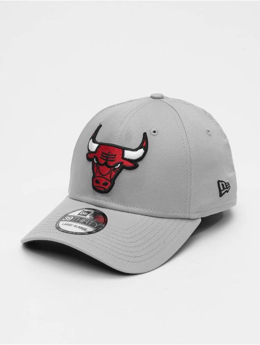 New Era Flexfitted Cap NBA Team Chicago Bulls 39Thirty grau
