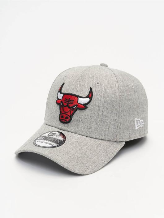 New Era Flexfitted Cap NBA Chicago Bulls Heather 39Thirty grau