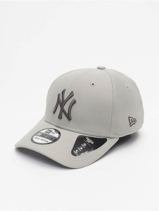 New Era Flexfitted Cap MLB NY Yankees Team 39thirty gray