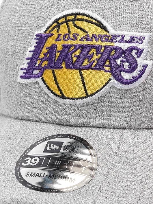 New Era Flexfitted Cap Heather 39Thirty LA Lakers grey