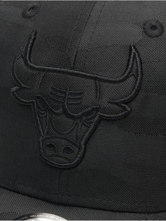 New Era Flexfitted Cap NBA Chicago Bulls Black Camo 39Thirty nero
