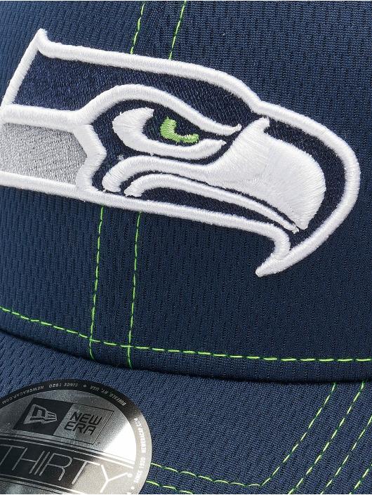 New Era Flexfitted Cap NFL Seattle Seahawks Onfield Road 39Thirty niebieski