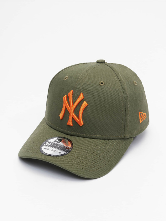 New Era Flexfitted Cap MLB New York Yankees League Essential 39Thirty olijfgroen