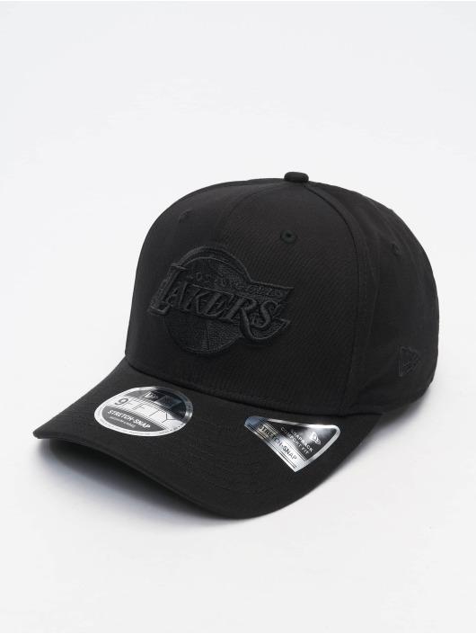 New Era Flexfitted Cap Tonal Black 9Fifty LA Lakers schwarz
