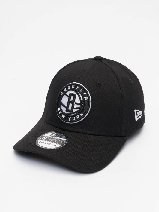 New Era Flexfitted Cap NBA Brooklyn Nets Core 39Thirty schwarz