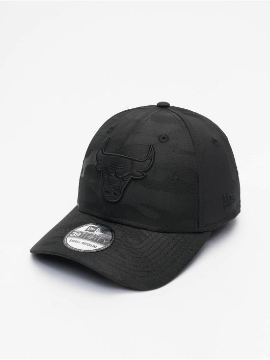 New Era Flexfitted Cap NBA Chicago Bulls Black Camo 39Thirty zwart