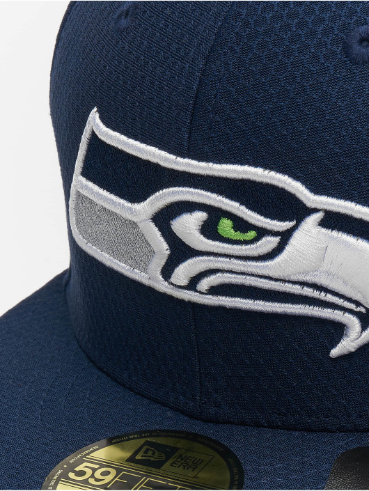 New Era Gorra plana NFL Seattle Seahawks Hex Era 59fifty azul