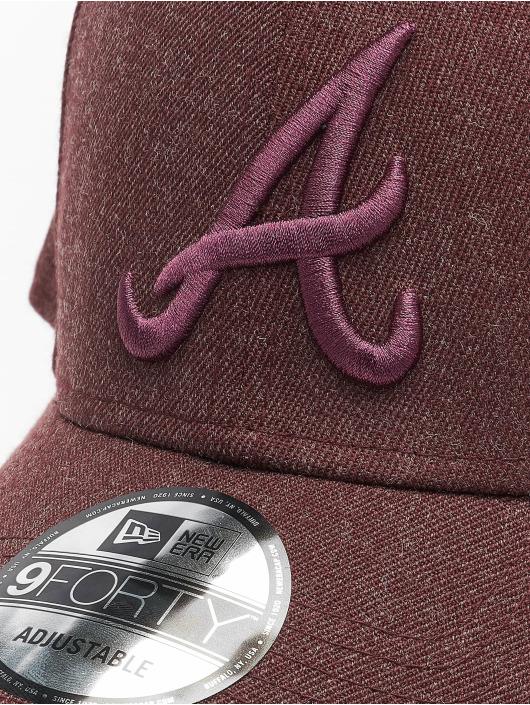 New Era Gorra Snapback MLB Atlanta Braves Winterized The League 9Forty rojo