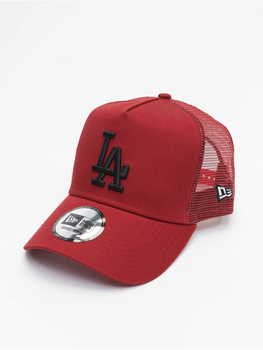 New Era Gorra Trucker MLB Los Angeles Dodgers League Essential rojo