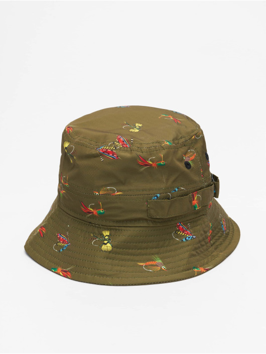 New Era Hatte All Over Print Fishing oliven