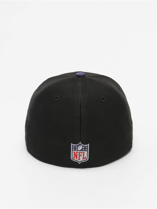 New Era Hip hop -lippikset NFL Baltimore Ravens On Field Draft NFL17 59Fifty musta