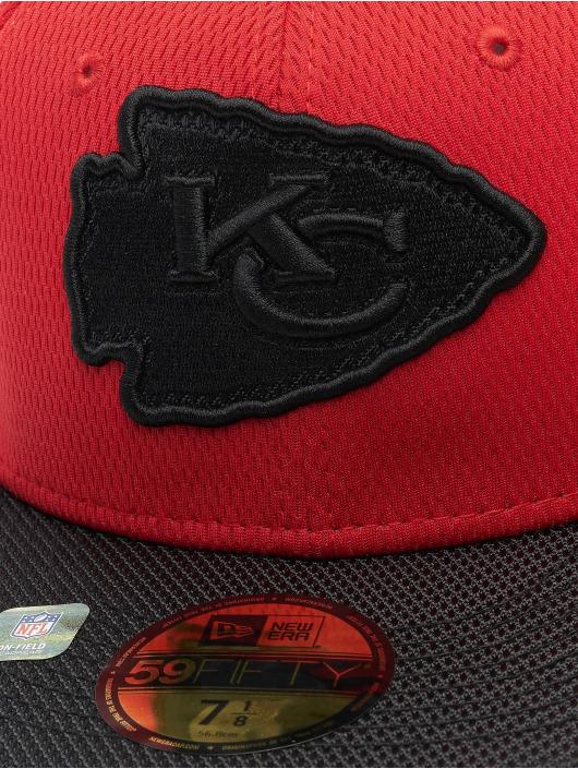 New Era Hip hop -lippikset NFL Kansas City Chiefs Sideline Road 59Fifty punainen