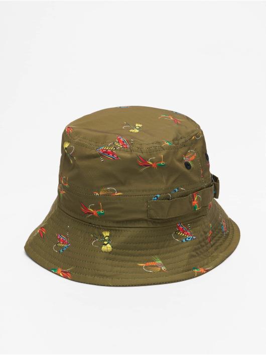 New Era hoed All Over Print Fishing olijfgroen