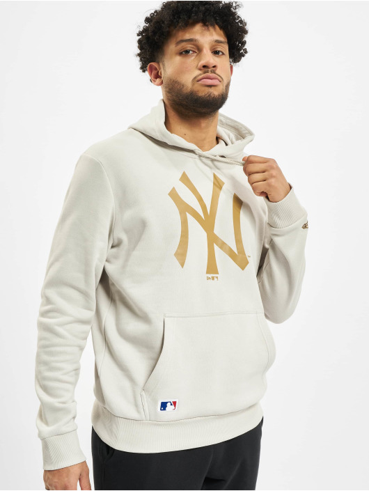 New Era Hoodie MLB NY Yankees Seasonal Team Logo beige