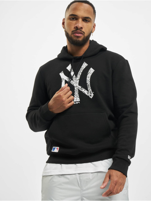 New Era Hoodie MLB NY Yankees Paisley Print Monochrome black