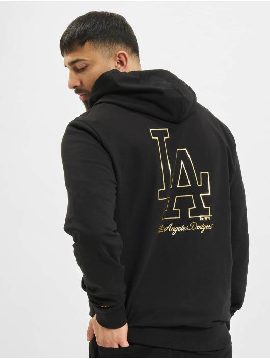 New Era Hoodie MLB Los Angeles Dodgers Metalic black