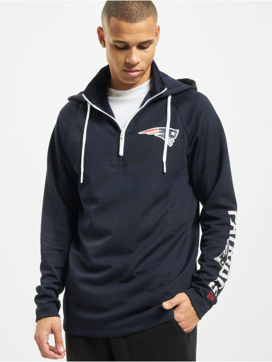 New Era Hoodie NFL New England Patriots Engineered Half Zip blue