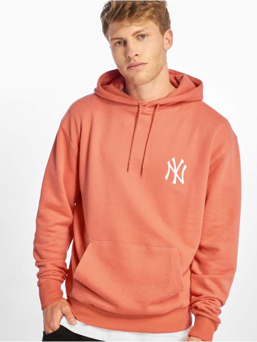 New Era Hoodie MLB Pastel NY Yankees röd