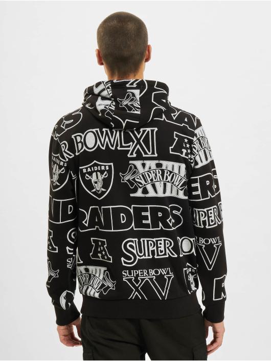 New Era Hoodie NFL Oakland Raiders Raiders Allover Print PO svart