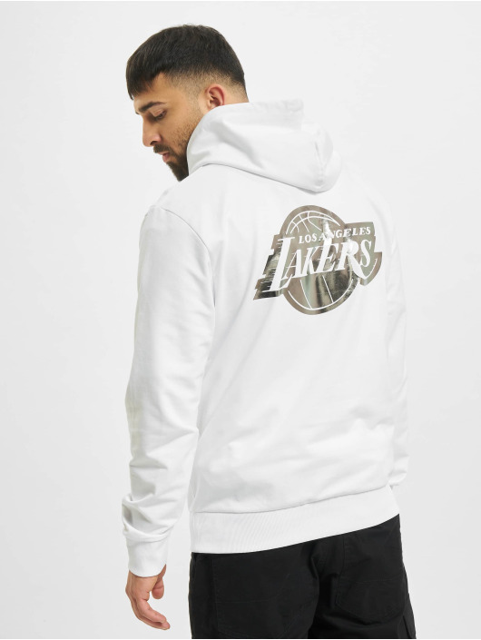 New Era Hoodie NBA Los Angeles Lakers Metalic white