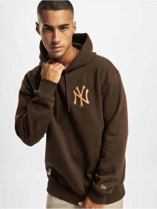 New Era Hoodies MLB NY Yankees Oversized Seasonal Color hnědý