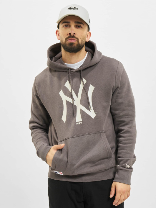 New Era Hoody MLB New York Yankees Seasonal Team Logo grau