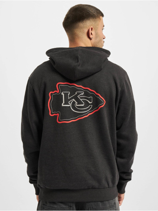 New Era Hoody NFL Kansas City Chiefs Outline Logo PO grau