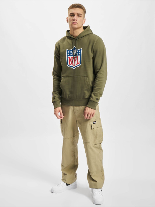 New Era Hoody NFL Generic Logo Camo Wordmark PO olive