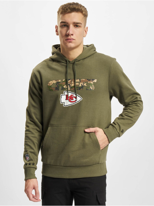New Era Hoody NFL Kansas City Chiefs Camo Wordmark PO olive
