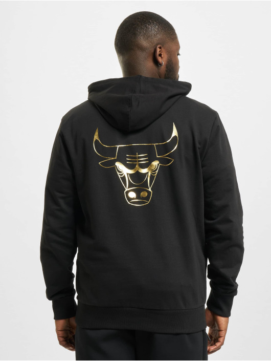 New Era Hoody NBA Chicago Bulls Metalic schwarz