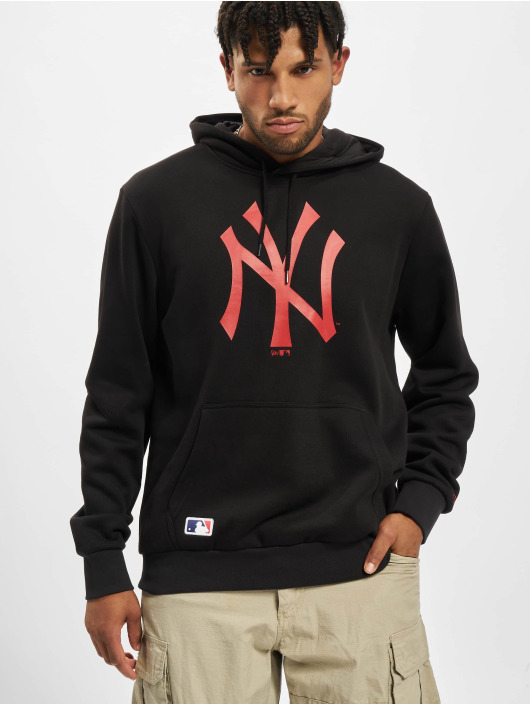 New Era Hoody MLB New York Yankees Seasonal Team Logo schwarz