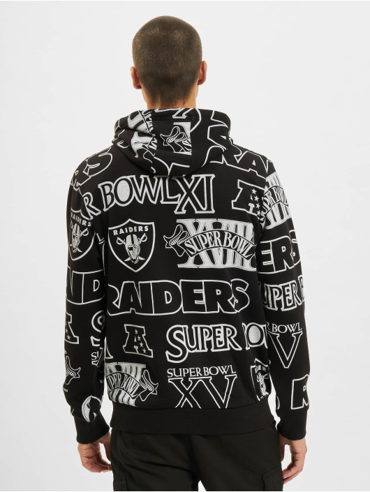 New Era Hoody NFL Oakland Raiders Raiders Allover Print PO zwart