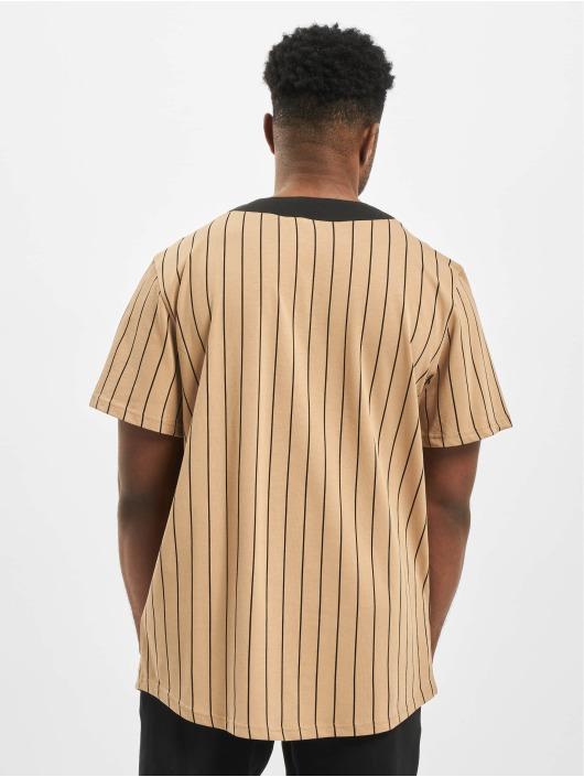 New Era Košile Heritage hnědý