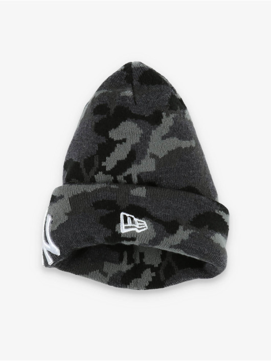 New Era Luer MLB NY Yankees Essential Camo Knit grå