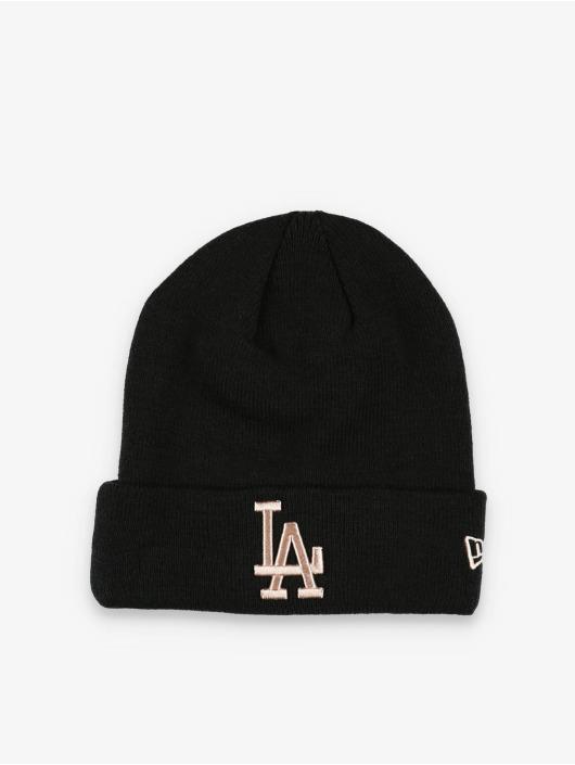 New Era Luer MLB LA Dodgers League Essential Cuff Knit svart