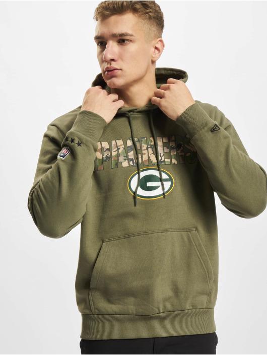 New Era Mikiny NFL Green Bay Packers Camo Wordmark PO olivová