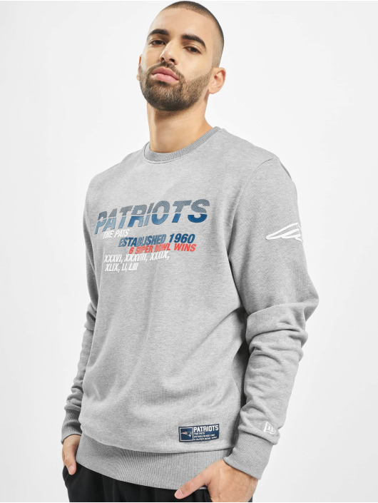 New Era Pullover NFL New England Patriots gray