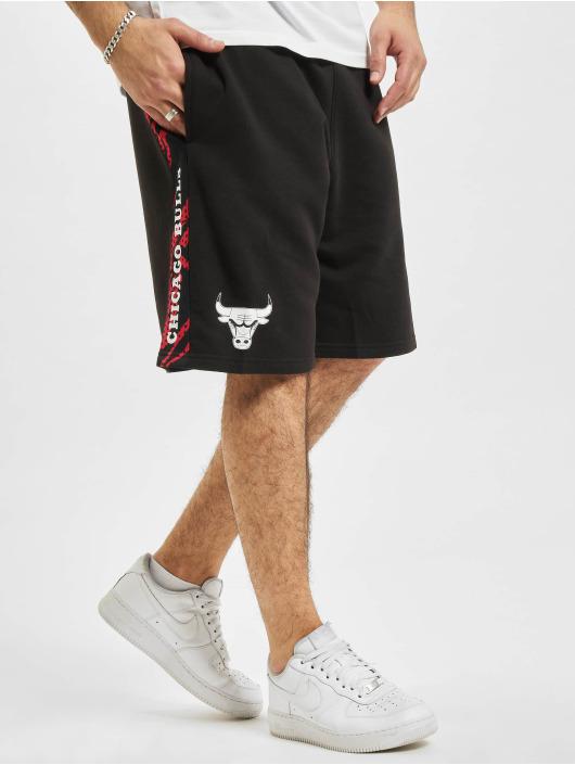 New Era Shorts NBA Chicago Bulls Print Panel schwarz