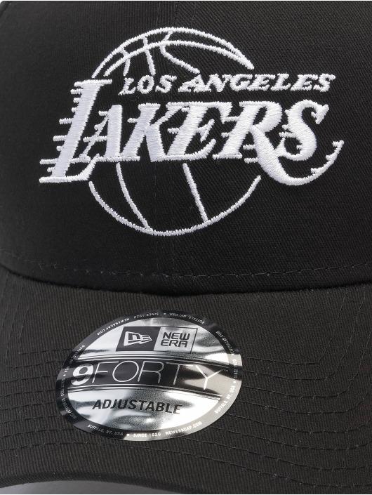 New Era Snapback NBA LA Lakers Eshortsleeve Outline èierna