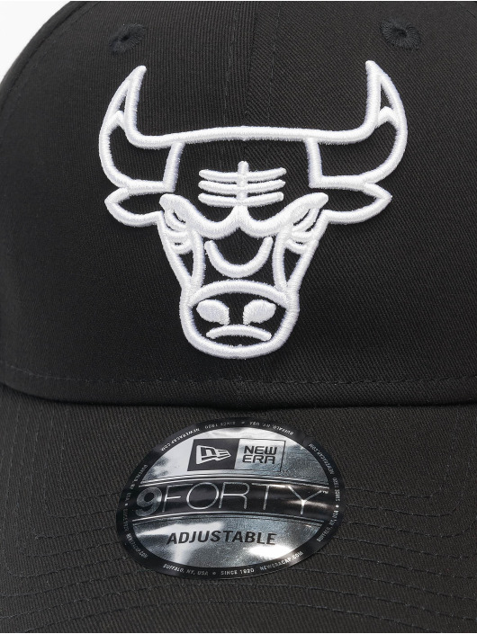 New Era Snapback NBA Chicago Bulls Eshortsleeve Outline 9forty èierna