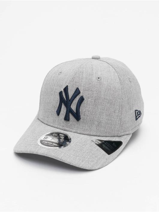 New Era Snapback MLB NY Yankees Heather Base 9Fifty šedá