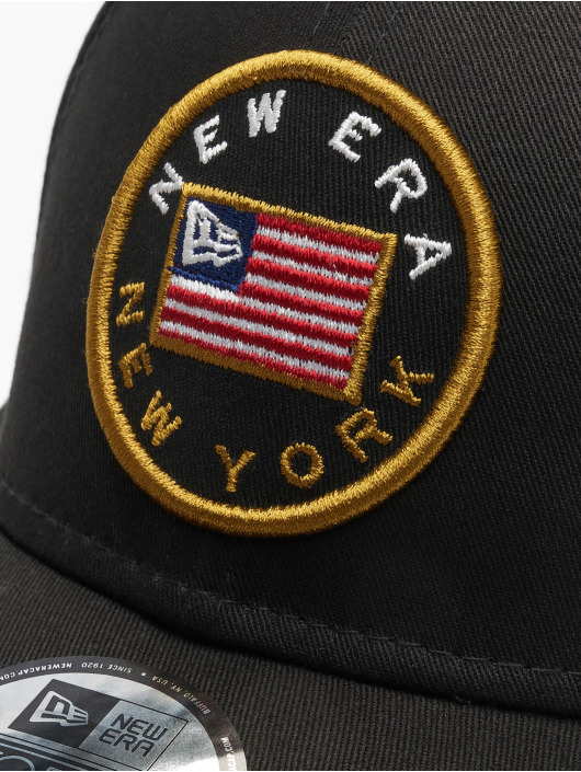 New Era Snapback Cap Flagged 9Forty black