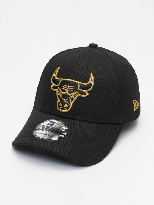 New Era Snapback Cap Nba Properties Chicago Bulls Ne Metallic Logo 9forty black