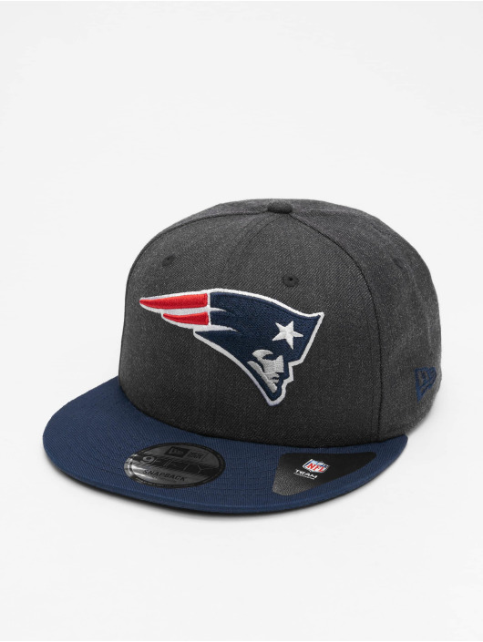 New Era Snapback Cap NFL New England Patriots Heather Crown 9Fifty blau