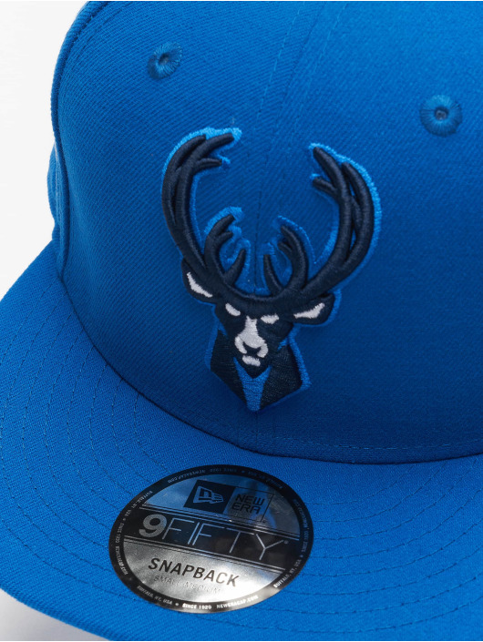New Era Snapback Cap NBA20 Milwaukee Bucks City Alt EM 9Fifty blau