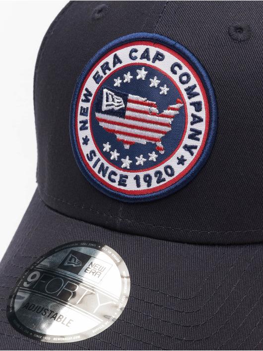 New Era snapback cap USA Patch 9Forty blauw