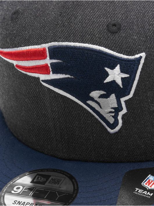 New Era Snapback Cap NFL New England Patriots Heather Crown 9Fifty blue