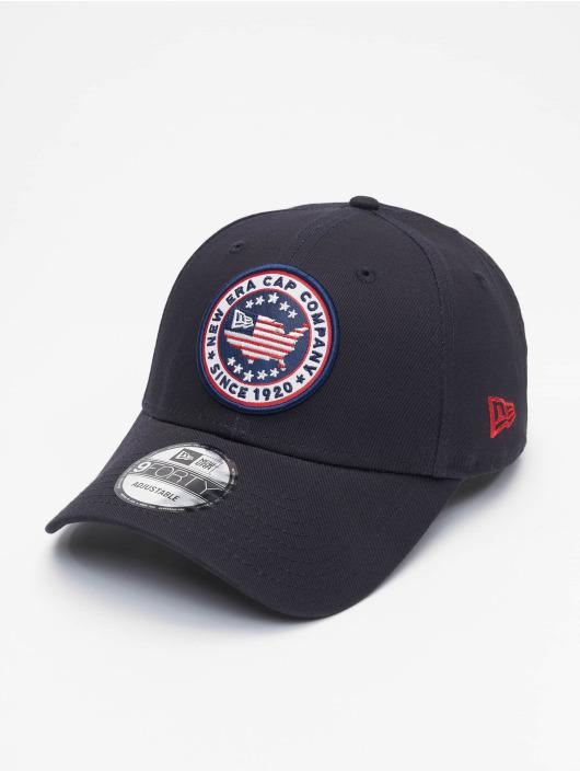 New Era Snapback Cap USA Patch 9Forty blue